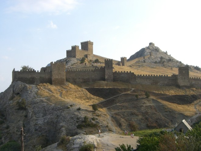 Genoan Castle in Sudak, Crimea, Ukraine