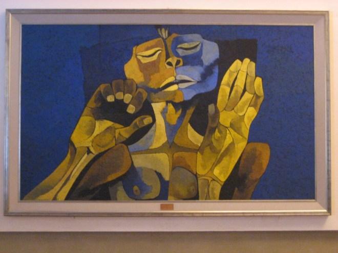 Oswaldo Guayasamín painting, Quito, Ecuador