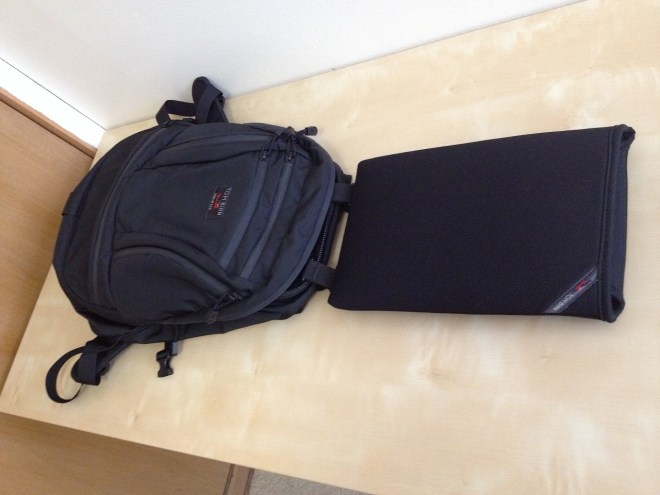 Tom Bihn Cache with Rails laptop sleeve system