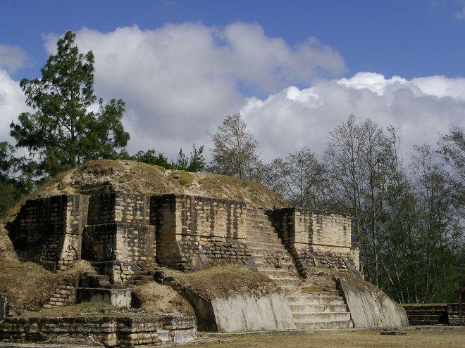 Iximche pyramid