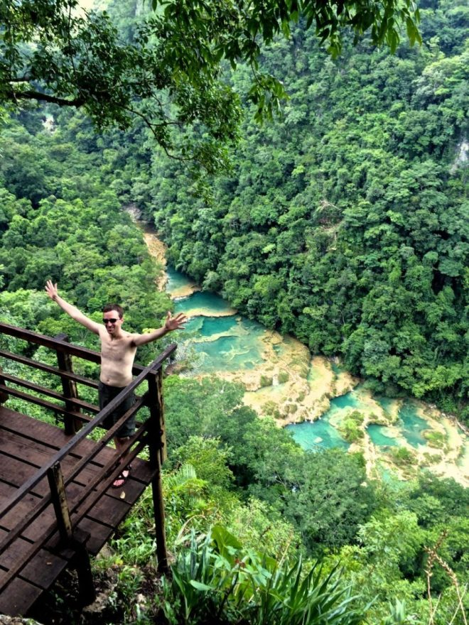 Semuc Champey lookout point photo