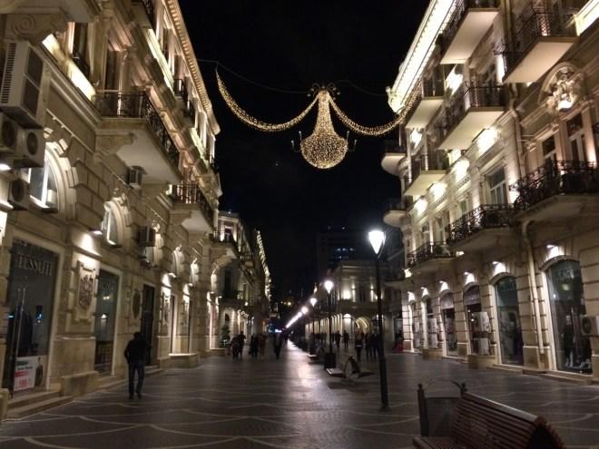 Baku streets at night