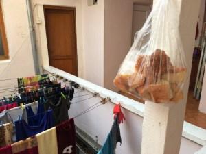 Hanging bread
