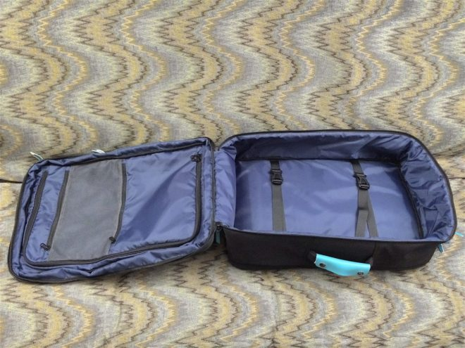 Standard Luggage fully open