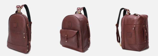 Wool and Oak travel duffel backpack