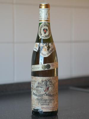 1983 Achkarrer Schlossberg Spätburgunder Weissherbst Spätlese