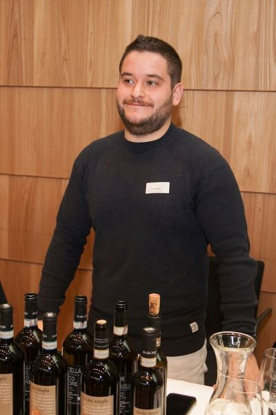 Paolo Creazzi with his wines