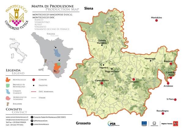 Map of Montecucco DOC