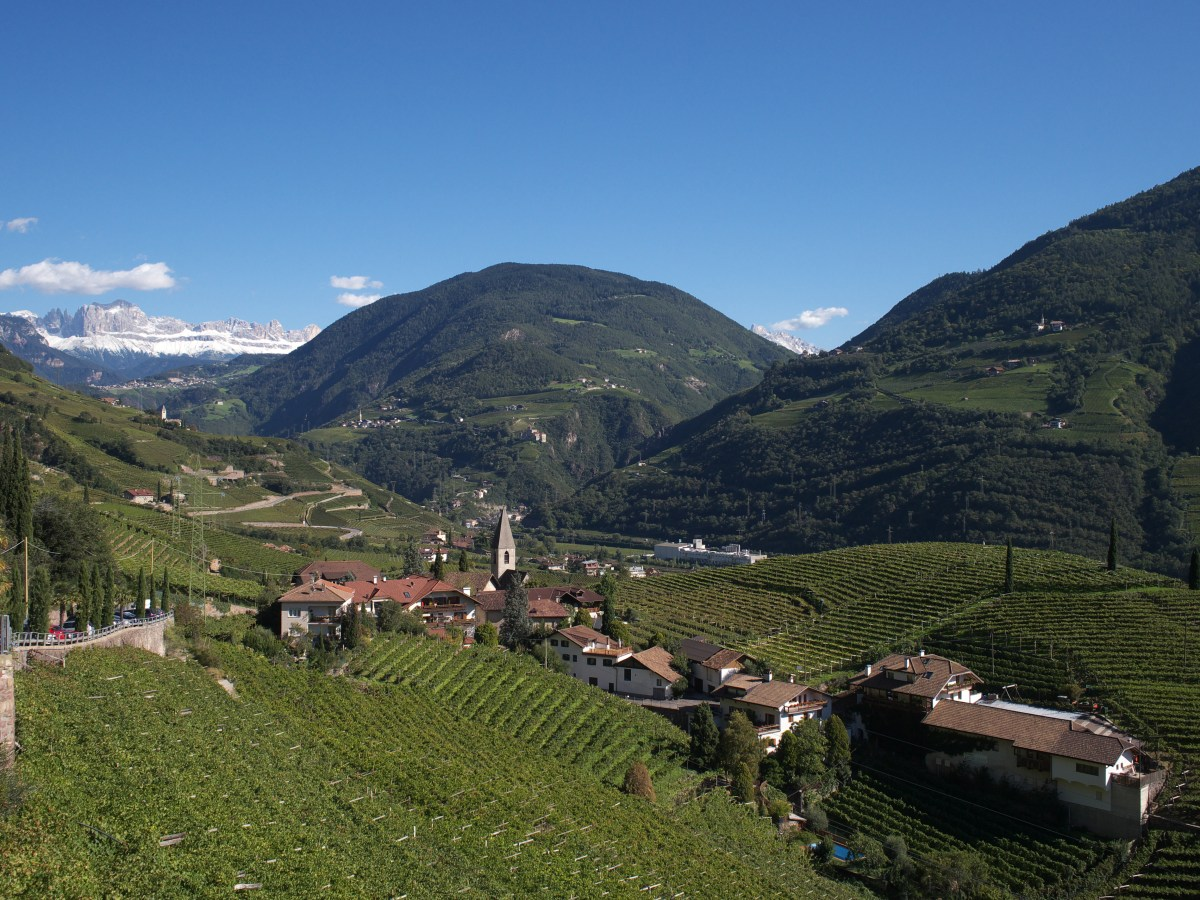 A view into the valley at Bolzano.