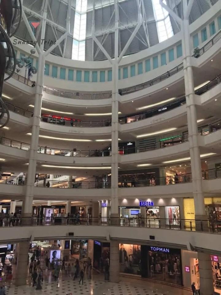 inside multilevel building
