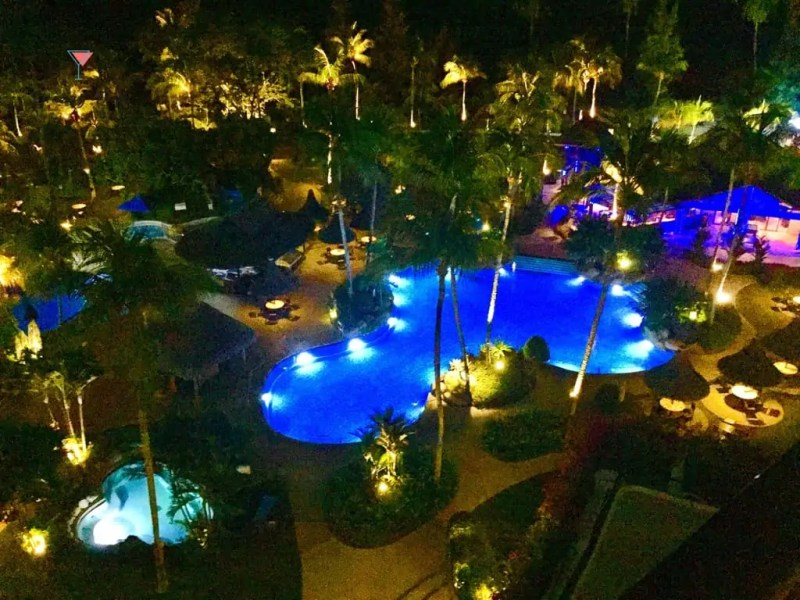 aerial view of pool at penang resort Snazzy Trips