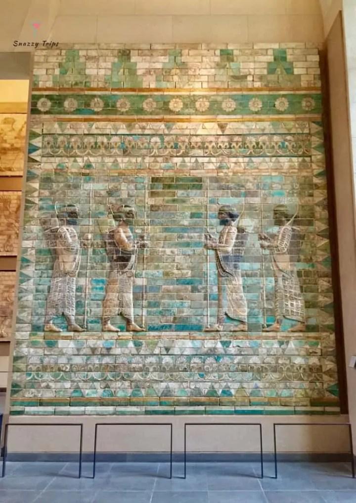 Persian wall art of glazed bricks