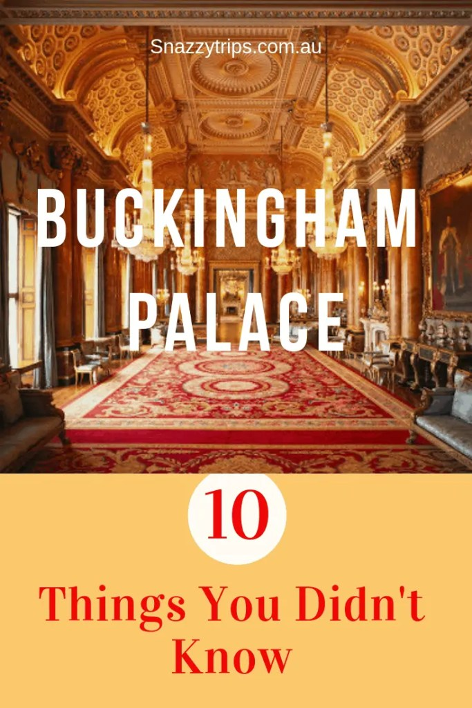 10 things you didn't know about Buckingham Palace.