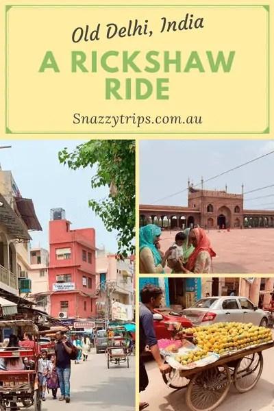rickshaw ride in old delhi
