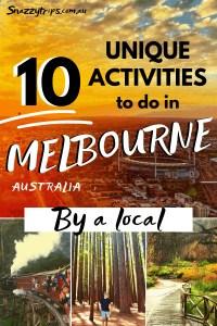 Unique Melbourne Activities