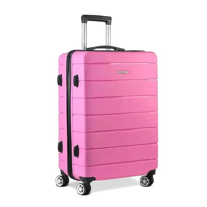 pink luggage Snazzy Trips