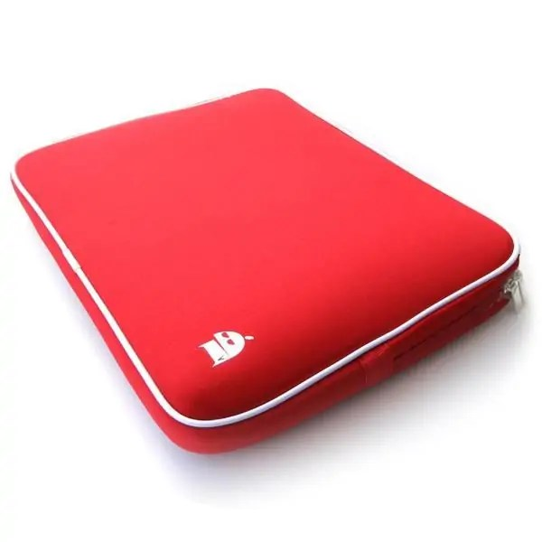 red laptop sleeve Snazzy Trips