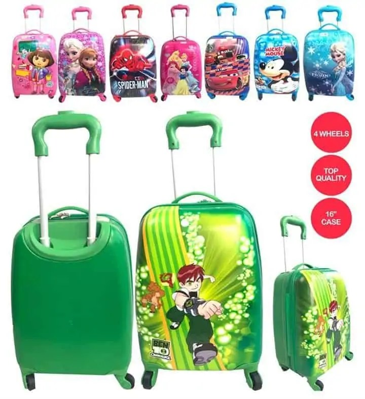 various characters kids luggage e1600072558910 Snazzy Trips