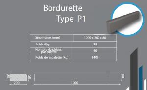 Bordure P1 1000x200x80
