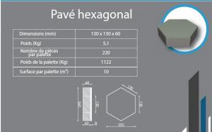 Pavé hexagonal 130x130x60