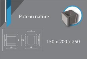 poteau 150x200x250