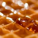 SND Bourbon Barrel Aged Maple Syrup on waffles