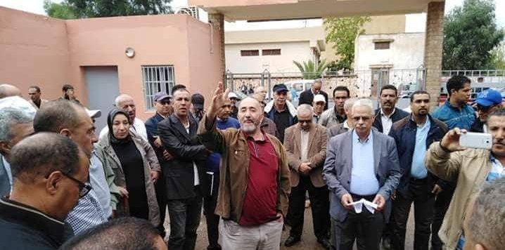 وقفة احتجاجية إنذارية للنقابات التعليمية الست والجمعيات الوطنية للإدارة التربوية الثلاث بإقليم خريبكة