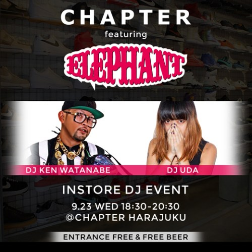 9.23(WED) CHAPTER featuring ELEPHANT