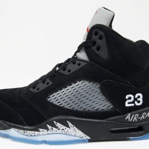 Nike Air Jordan 5 Retro Black Metallic Silver