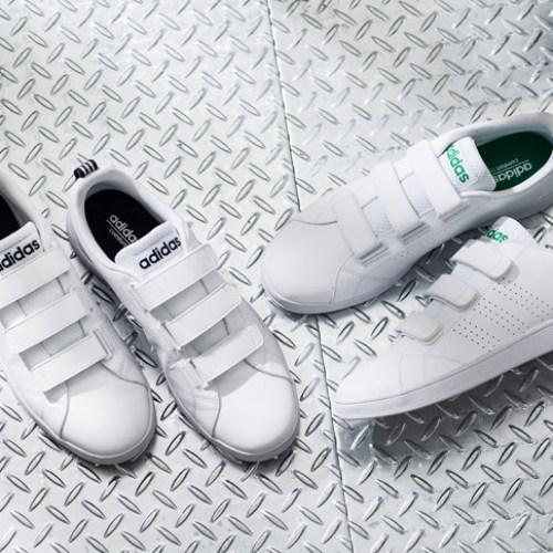 adidas neoの定番VALCLEANより、ストラップタイプが新登場