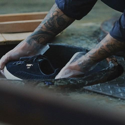 プーマから、アパレルブランドCLUCTとmita sneakersによるコラボレートモデルCLYDE FOR CLUCT MITAが登場