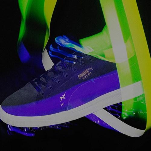 プーマは、WHIZ LIMITEDとmita sneakersによるコラボレーションモデルSUEDE IGNITE WMを発売