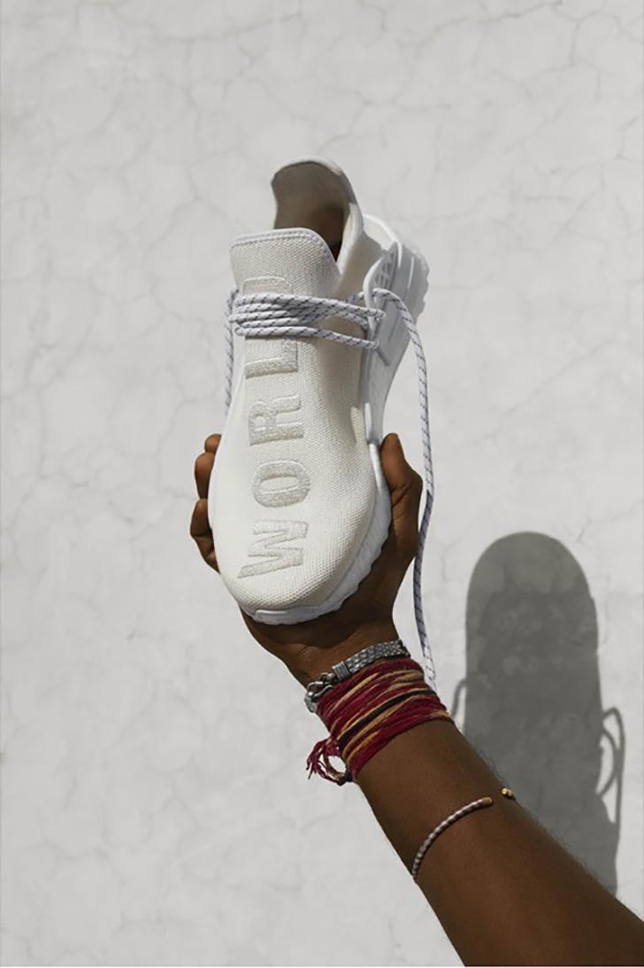 Photo04 - アディダスから、平和と平等を象徴したオールホワイトのコレクションadidas Originals = Pharrell Williams Hu Holi Blank Canvasが登場