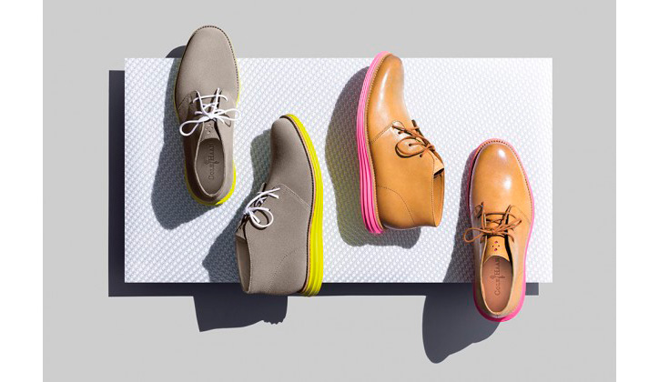 Photo01 - Cole Haan LunarGrand Chukka Pink & Yellow's