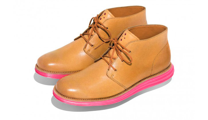 Photo02 - Cole Haan LunarGrand Chukka Pink & Yellow's