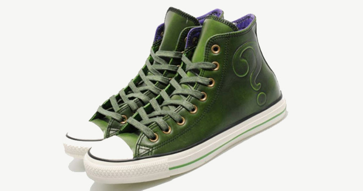 "Photo01 - DC COMICS x CONVERSE CHUCK TAYLOR ALL STAR HI ""THE RIDDLER"""