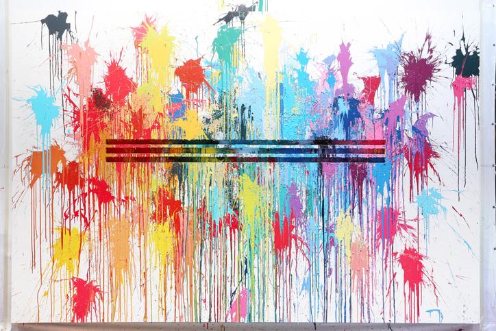 Photo07 - アディダスは、ファレル・ウィリアムスとコラボレーション Supercolor の発売を記念し、Supercolor Splash Wall イベントを開催