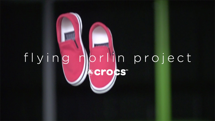 """Photo01 - クロックス x ドローンによる flying norlin project """"空中ストア"""" が東京ミッドタウンにて期間限定で開催"""