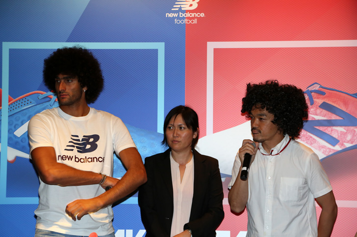 Photo02 - マンチェスター・ユナイテッド所属のマルアン・フェライーニ選手を招いた New Balance FOOTBALL 2015FW BOOTS REVEAL PARTY が開催