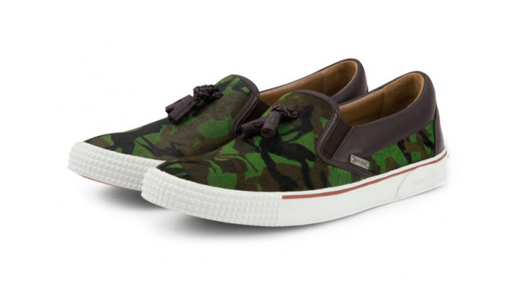 Photo01 - JIMMY CHOO CAMOUFLAGE TASSEL LOAFER