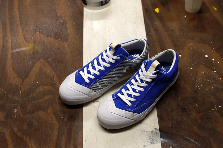 "Photo02 - LOSERS デザイナー sneakerwolf氏がドリッピング加工を施した LOSERS SCHOOLER LO ""Cobalt"" ""mita sneakers x sneakerwolf""を発売"