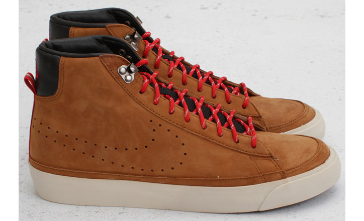 "Photo01 - Nike Blazer Mid Premium ""ACG"" – Hazelnut / Sport Red"