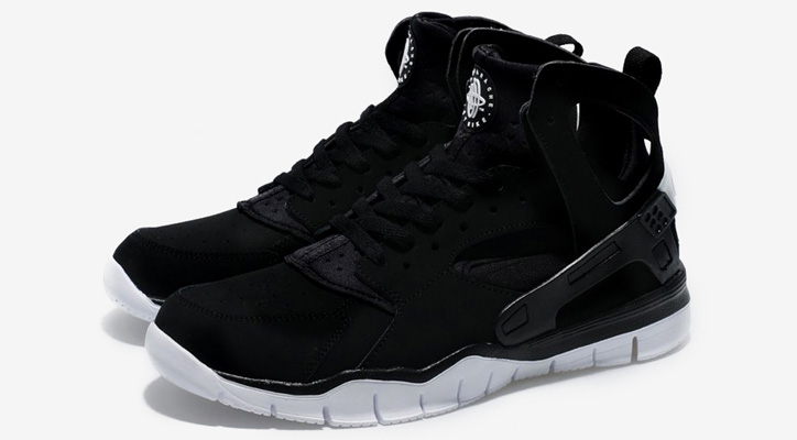 Photo01 - Nike 2012 Huarache Free Basketball Black/White