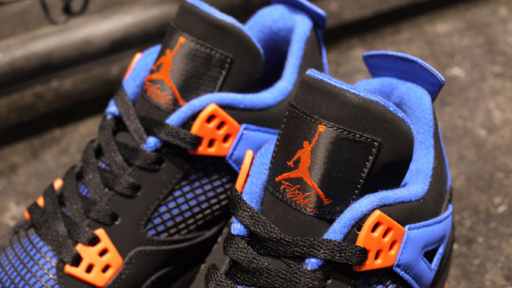 Photo05 - NIKE AIR JORDAN 4 RETRO BLACK/SAFETY ORANGE-GAME ROYAL