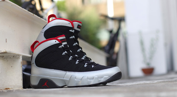 Photo01 - NIKE AIR JORDAN IX RETRO BLACK/GYM RED-MET PLUTINUM