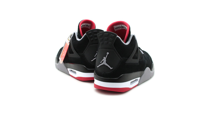 Photo03 - NIKE AIR JORDAN 4 RETRO BLACK/CEMENT GREY-FIRE RED