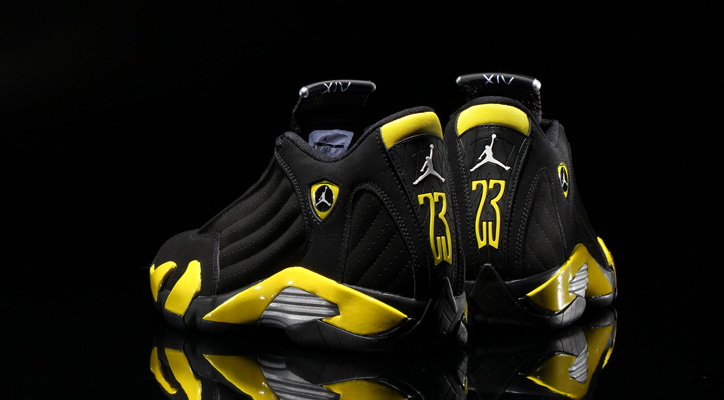 Photo01 - NIKE AIR JORDAN 14 RETRO BLACK/VIBRANT YELLOW-WHITE