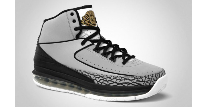 Photo02 - NIKE AIR JORDAN 2.0 WOLF GREY/BLACK-WHITE-METALLIC GOLD