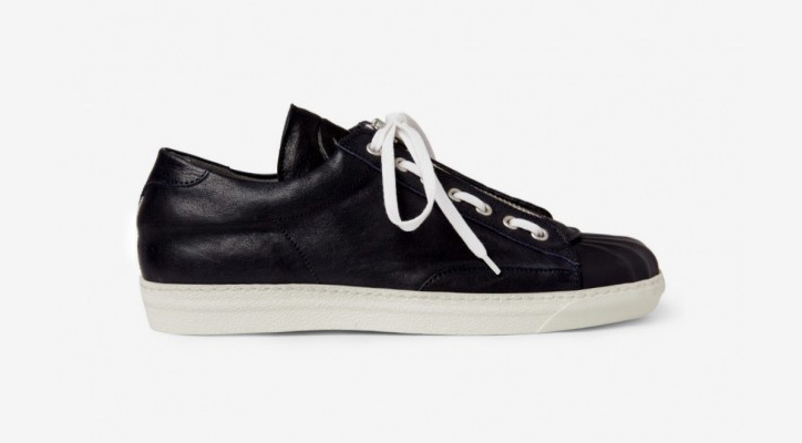 Photo01 - Alexander McQueen Zip and Lace Leather Sneakers