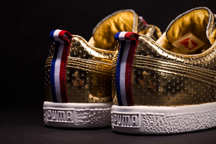 "Photo06 - UNDFTD x PUMA Clyde ""Gametime"" 24k Metallic Gold"